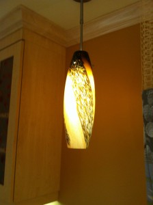 Warm lighting was selected to create a soothing atmosphere.